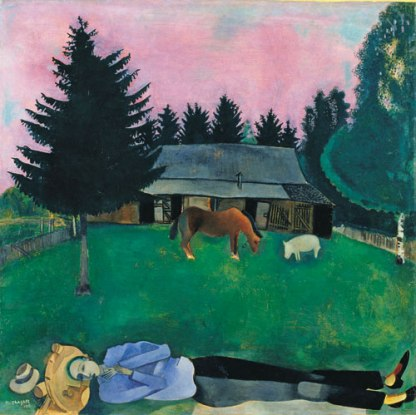 Chagall - The Poet, Reclining